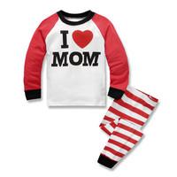 Kids Cotton Pajamas - Piyama Anak (LOVE MOM)
