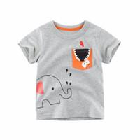 Kids Short Sleeve - Kids T Shirt - Kaos Oblong Pendek (GREY ELEPHANT)