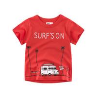Kids Short Sleeve - Kids T Shirt - Kaos Oblong Pendek (RED SURF)