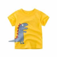 Kids Short Sleeve - Kids T Shirt - Kaos Oblong Pendek (GREY DINO)