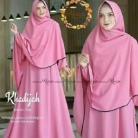 Baju Gamis Wanita Set Syari Khadijah plus Khimar Muslim Terbaru MURAH