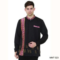 New Trend Baju lengan Panjang koko Warna Hitam Mewah Bahan berkualitas