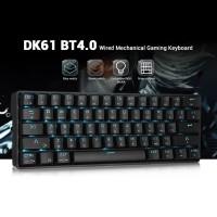 DK61 Wireless Bluetooth Keyboards Blue Switch 61 Keys Rechargeable Key