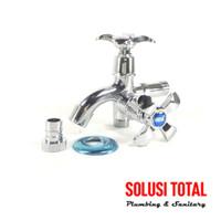 "Keran Kran Shower Mixer Double / Dobel Cabang ONDA K 407 MH 1/2"" inch"