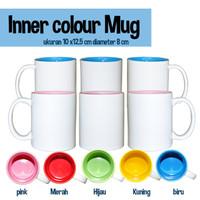 Mug inner colour / gelas Mug warna dalam diameter 8 cm