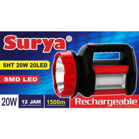 Senter lampu LED Surya SHT 20W Emergency 20LED White/Putih