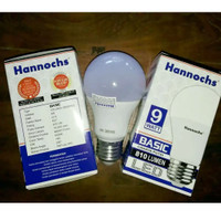 Lampu LED Hannochs Basic 9W / 9watt Putih Garansi 1th
