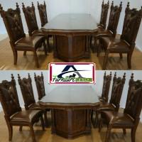 promo set 4 kursi makan, set 6 kursi makan minimalis kayu jati solid