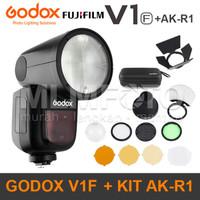 Godox V1F kit AK-R1 Fuji Round Head Flash V-1F V1-F V1 AKR1 AK R1