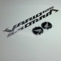 Sticker Timbul Honda VARIO 125 Silver Stiker Bulat Hitam List Silver