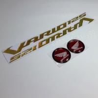 Sticker Timbul Honda VARIO 125 GOLD Stiker Bulat Merah List Hitam New