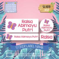 SLNDB-002 stiker label nama anak kartun waterproof anti air princess