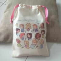 Tas Pouch Totebag Backpack Ransel Belacu Blacu - Disney Princess