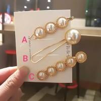 A9 - PEARL DIAMOND HAIRPIN HAIRCLIP KOREA / JEPIT RAMBUT MUTIARA