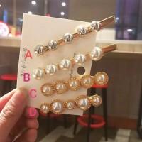 A8 - PEARL DIAMOND HAIRPIN HAIRCLIP KOREA / JEPIT RAMBUT MUTIARA