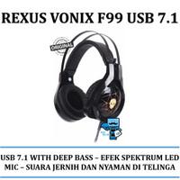 Rexus Headset Gaming Vonix F99 USB 7.1 Professional Gaming Headset
