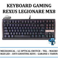 Keyboard Gaming Mechanical Optical Switch Rexus Legionare MX8 TKL RGB