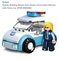 Sluban Dream Girls Police Woman with Police Car