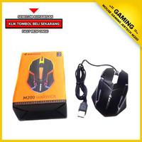 Mouse Gaming JERTECH M200 - Mouse Usb Laptop - Mouse LED Komputer