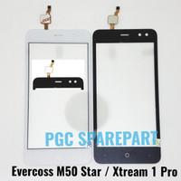 Original Touchscreen Evercoss M50 Star - Xtream 1 Pro - Kaca Layar TS