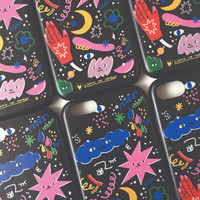 Spaced Out Iphone Case Leather