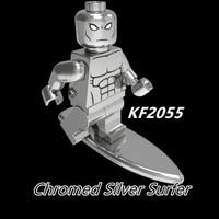 Silver Surfer Chrome KF2055 Minifigure Fantastic Four Brick Lego
