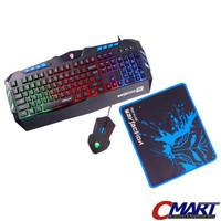 Rexus Warfaction VR1 Keyboard + Mouse + Mousepad Gaming Kit Combo Set
