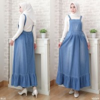 Baju Overall Jumpsuit WearPack Dress Rok Panjang Planner Bahan Jeans
