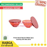 Tupperware Prism Bowl Merah 500ml 2pcs Activity SFA Mei 2018