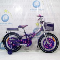 Sepeda Anak Family Glamour CTB 5-8 Tahun 18 Inci Hi-Ten Steel Rem Cali