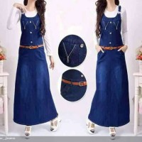 Maxi Dress/ Dress Jeans V Zipper 3in1 / Overall Jeans / Overall Dewasa