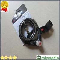 PROMO Kunci Gembok Sepeda Polygon Cable Lock Safety Loc di6 Gan9