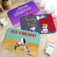 Berwarna flanel kartun Snoopy pola karpet, Rumah kamar mandi kamar t