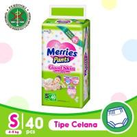 Merries Pants Good Skin S 40S - Popok Bayi/Diapers