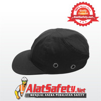 Topi Safety Hitam / Safety Hat / Hard Cap / Working Cap