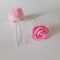 Hiasan Rambut Pesta Head Piece Tusuk Konde Wild Rose Merah Muda Pink