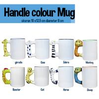 Mug Karakter / gelas Mug handle karakter Binatang diameter 8 cm