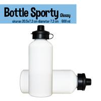 Bottle Sport Putih Glossy / Botol Minum Sport 600 ml diameter 20.5 cm