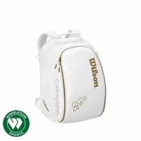 Tas Backpack WILSON FEDERER DNA White and Gold / Tas Wilson RF DNA