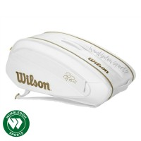 Tas tenis Wilson FEDERER DNA 12 PACK White & Gold / Tas Federer RF DNA