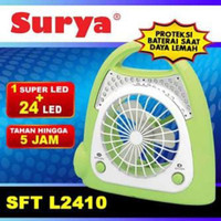 Kipas Portable Mini + Lampu Emergency Charge Surya SFT-L2410