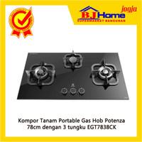 Kompor Tanam Electrolux EGT7838C Gas Hob Potenza 78cm dengan 3 tungku