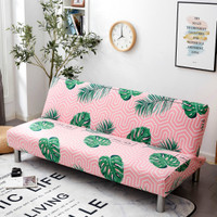 Cover SOFA BED Sarung SOFA BED stretch elastis TROPICAL LEAVES