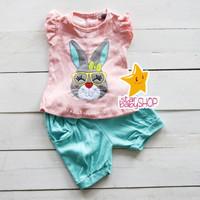 Baju Bayi Setelan Bayi Setelan Anak Baby Bell Rabbit Face