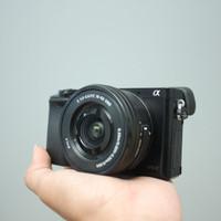 SONY A6000 kit 16-50mm OSS SC 5rb LENGKAP
