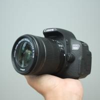 CANON EOS 700d kit 18-55mm IS STM SC 10rb LENGKAP