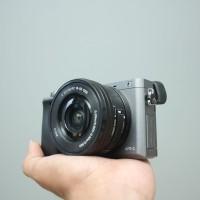 SONY A6000 kit 16-50mm OSS GRAY SC 7rb LENGKAP
