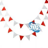 Bendera kain Segitiga merah putih 2/ Bendera SEGITIGA HUT RI / agustus