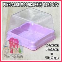 PINK-4,5cm T:4cm+Tutup-CASE MOONCAKE(6)TARO 20'S