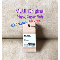 ATK0687MJ 100 lbr Hanging Blank Paper Note Mini Word Cards MUJI 110302